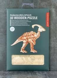 DINOSAURIO 3D WOODEN PUZZLE PARASAUROLOPHUS KIKKERLAND