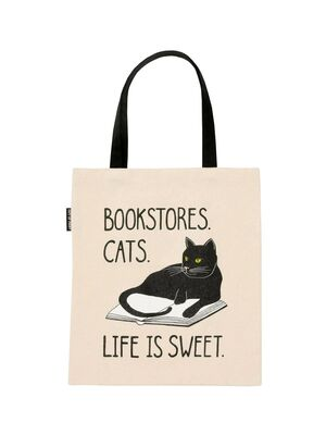 TOTE BOOKSTORES CATS LIFE IS SWEET