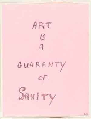IMAN ART IS GUARANTY OF SANITY