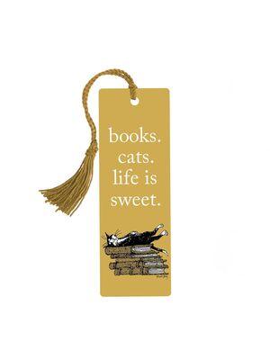 SEPARADOR BOOKS CATS LIFE IS SWEET GOREY