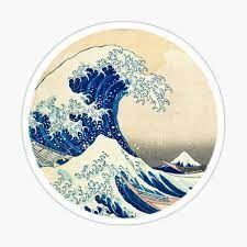 STICKER THE MET  HOKUSAI GREAT WAVE LA OLA