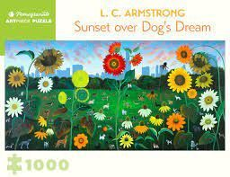 PUZZLE L C ARMSTRONG SUNSET OVER DOGS DREAM ROMPECABEZA