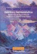 ESTETICA Y HERMÉUTICA TRADUCCIÓN DE ANTONIO GÓMEZ RAMOS