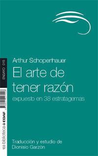 EL ARTE DE TENER RAZÓN