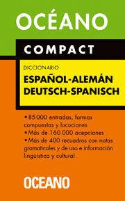 DICCIONARIO ESPAÑOL ALEMAN OCEANO COMPACT