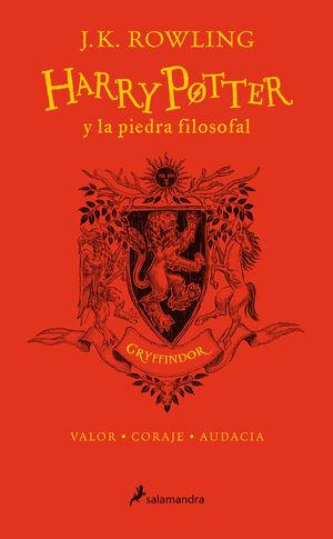 HARRY POTTER Y LA PIEDRA FILOSOFAL GRYFFINDOR. VALOR CORAJE AUDACIA ED DE ANIVERSARIO