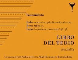 LIBRO DEL TEDIO