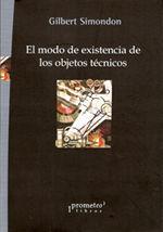 MODO DE EXISTENCIA DE LOS OBJETOS TECNICOS