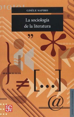 SOCIOLOGIA DE LA LITERATURA, LA